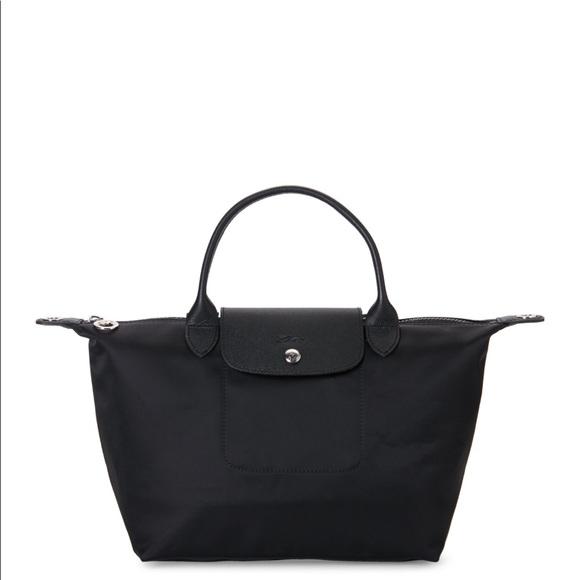 Longchamp Bags   Black Le Pliage Neo Satchel   Poshmark c6f828bbc9